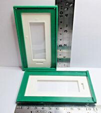 DOORS x 2 plastic dollshouse vintage door 16th scale DIY spares repairs hobby