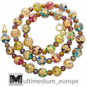 Murano Glas Kette Halskette vintage murano glass necklace millefiori 🌺🌺🌺🌺🌺