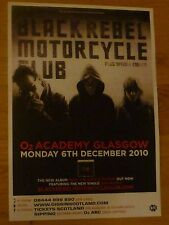 Black Rebel Motorcycle Club - Glasgow dec.2010 tour concert gig poster