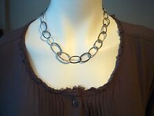 SILPADA Sterling Silver Hammered Oval Link Oxidized Chain Necklace Retired N1667
