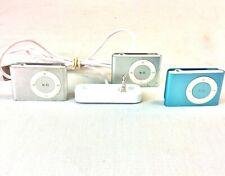 Apple iPod Shuffle 2nd Gen Lot of 3 1 GB & Dock A1204 EMC 2125 2 Silver 1 Blue