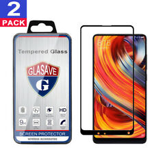 2Pack GLASAVE FULL COVER Tempered Glass Screen Protector For Xiaomi Mi Mix 2/ 2S