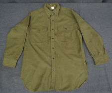 Original 1920s-30s Pre-WWII US Army Enlisted Wool Man's Shirt