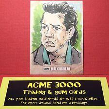 Topps The Walking Dead EVOLUTION - Sketch Art Card - MARLO AGUNOS 1/1 Eugene