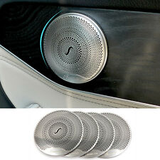For Mercedes Benz E Class W213 2017 Matte Interior Door Speaker Cover Trim 4pcs