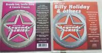 2 CDG LEGENDS KARAOKE DISCS 1950'S BILLY HOLIDAY,BRENDA LEE,CONNIE FRANCIS