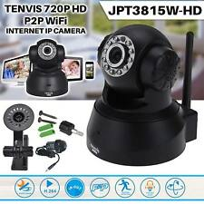 Wireless WiFi IP Camera Tenvis 720P HD CCTV IR Night Vision Home Shop Security
