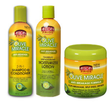 African Pride Olive Miracle Hair Care (Shampoo+Lotion+Olive Cream)