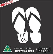 CAR STICKER GOLD COAST THONGS JANDALS FOR CAR BOAT VAN SURFBOARD MACBOOK IPAD