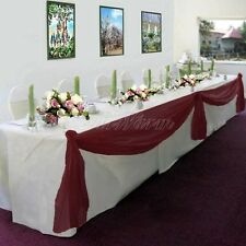 Elegant Wedding Table Valance Chair Decor Sheer Swag Fabric Party Decoration 216