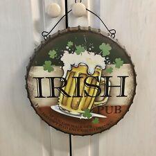 Superb Large Embossed /'Ye Old Irish Pub/' Tin Plate Wall Sign 40cm x 30cm NEW!