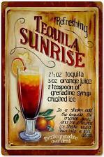 Vintage Tequila Sunrise Drink Metal Sign Restaurant Bar Pub Tavern Decor 213