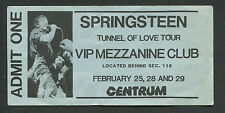 1988 Bruce Springsteen unused full concert ticket Worcester Ma Tunnel Of Love