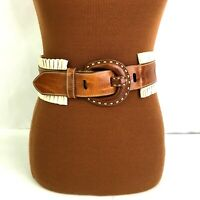 Brave Belt Ruffles Womens Leather Small Made in Canada Brown