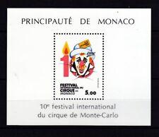 Monaco 1984 postfrisch MiNr. Block 27 Zirkusfestival