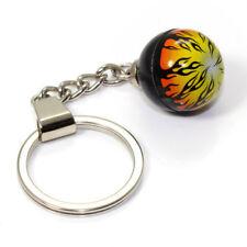 Fire Flames Ball Key Chain Ring Fob -for house home, car, truck, bike keys