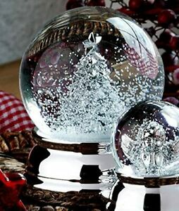 Exclusive Snow Globe With Tannenbaum- Silver Plated And Tarnishing - 6,5 CM
