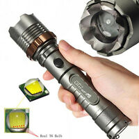 Super Bright Tactical 3000 LM CREE XML T6 LED 18650 Flashlight Focus Torch Lamp