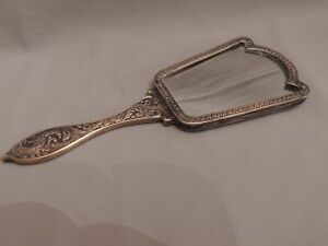 Collectible Mirror Bronze with Carvings 23x8cm