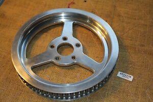 Revtech 70 tooth belt pulley custom 3 spoke Harley FXR Dyna Softail EPS23276