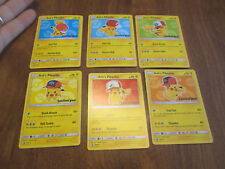 Ash's Pikachu I Choose You Movie Promo Set Of 6 Cards COMPLETE SM109-114 POKEMON