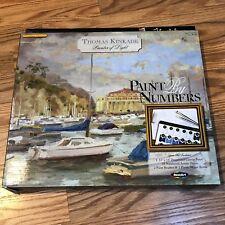 """Thomas Kinkade Paint by Number Kit, 11"""" X 14"""", Catalina Marina New"""