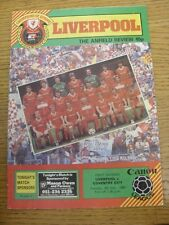 04/12/1984 Liverpool v Coventry City  (Creased, Worn).  Thanks for taking the ti
