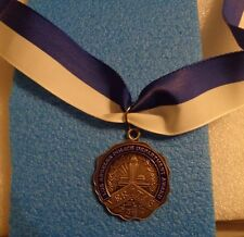 L.A.P.D.MEDAL,MEDAL FOR VALOR,1ST STYLE  VERITAS ,FULL SIZE,1980s WOLF BROWN