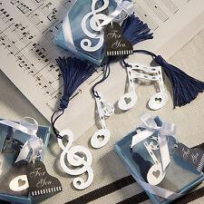 BOMBONIERA SEGNALIBRO CON NOTE MUSICALI chiave di violino cod 397