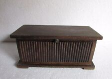 Vintage Old Hand Carved Unique Shape Wooden Box Collectible