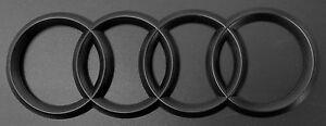 NEW Matt Black For Audi A3 A4 5 A6 A7 TT Q3 Q5 Q7 Rear Trunk Emblem Badge 216mm