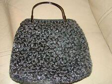 Real Lamb Gray Fur Hand bag Purse