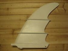 "Longboard fin white lexan fin with foil lift 10"" Fence"