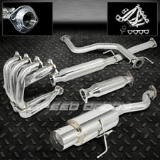 "4.5"" MUFFLER TIP RACING CATBACK+HEADER+PIPING EXHAUST 92-00 HONDA CIVIC EG/EK/EM"