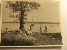 altes Foto 30iger Jahre Badestrand Schwarzhorn Badehose Männer