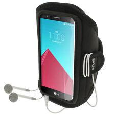 Brazaletes negro con cierre autoadherente para teléfonos móviles y PDAs LG