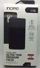 OEM INCIPIO Highland LG G3 Ultra Thin Premium Leather FOLIO CASE BLACK/Black NEW