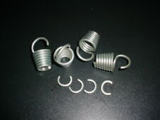 4 Vintage Boat Trailer Shock Bungee Cord HOOK SPRINGS Zinc Plated Steel tie down