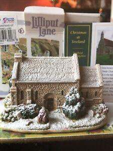 Lilliput lane cottages Christmas at toseland - Box/deeds - Some Damage