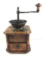 Große antike Kaffeemühle / Mühle 19. Jahrhundert