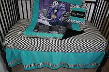 Nightmare Before Christmas Turquoise baby bedding - Free personalized pillow