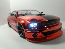 1/10 Scale FORD MUSTANG  RTR Custom RC Drift Cars 4WD 2.4Ghz & Charger red