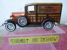 Matchbox yesteryear~Y1 ~FORD MODEL T ~1983 MINIATURE TOY SHOW ILLINOIS~UNBOXED