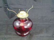 Vintage Antique Cranberry Ruby Red Glass Oil Lamp Eagle Burner