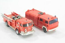 HO Scale Wiking and other brand fire trucks both missing parts.
