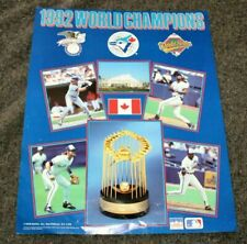 Toronto Blue Jays Baseball 1992 World Champions Series American League Poster VG