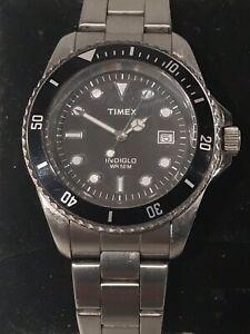 Vintage Men's Timex Indiglo WR50 Diver's 50M Quartz Watch New Battery