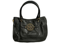Tory Burch Amanda Black Leather Satchel Bag