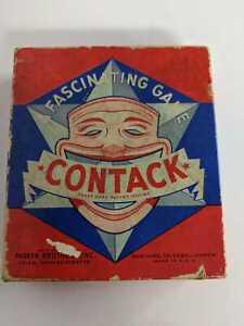 "VINTAGE 1939 PARKER BROTHERS "" CONTACK "" GAME SALEM, MA Retro Puzzle jester"