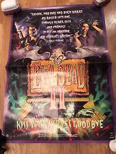 Evil Dead 2 Dead By Dawn Original Used Uk Video Promo A2 Movie Poster Mint Rare